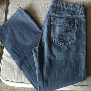 Men's sz 33 Joe's jeans rebel fit dark relaxed